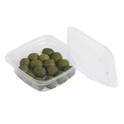 good natured Plant-Based Deli Containers with Lids – Multi-Purpose, Space Efficient, Freezer Safe Food Storage Containers - BPA-Free Deli Containers Size 8 Ounces, 50 Lids & Bases