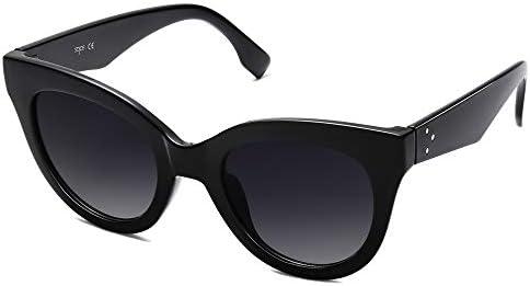 SOJOS Retro Vintage Oversized Cateye Women Sunglasses Designer Shades HOLIDAY SJ2074 with Black product image
