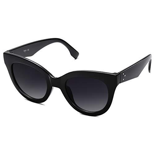 SOJOS Retro Vintage de gran tamaño Cateye Mujeres Gafas de sol Diseñador Sombras Vacaciones SJ2074