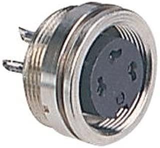 BINDER 09 0340 00 16 Circular Connector, 680 Series, Panel Mount Receptacle, 16 Contacts, Solder Socket, Brass Body