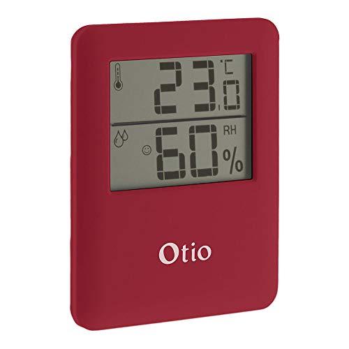 Thermomètre/Hygromètre intérieur magnétique - Rouge - Otio