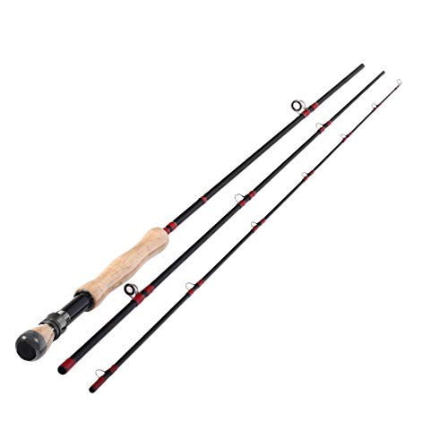 10ft Fly Fishing Rod 3 Sections 7-8wt Fly Rod Carbon Fiber Blanks Light Weight Medium Fast Action Cork Grip