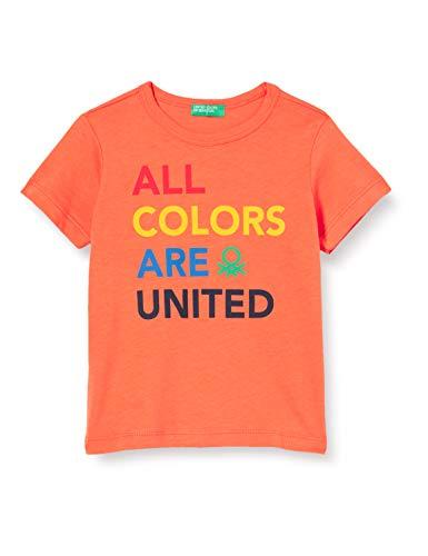 United Colors of Benetton Baby-Jungen T-Shirt Pullunder, Orange (Tigerlily 309), 86/92 (Herstellergröße: 2y)