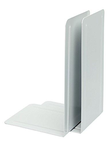 Alco-Albert 4303-10 podpórek do książek z metalu, 1 para, 130 x 240 x 140 mm, białe