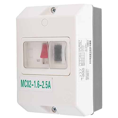 Interruptor de protección de motor GAESHOW Disyuntor MC02‑1.6‑2.5A 50 / 60Hz ABS impermeable 220V / 380V