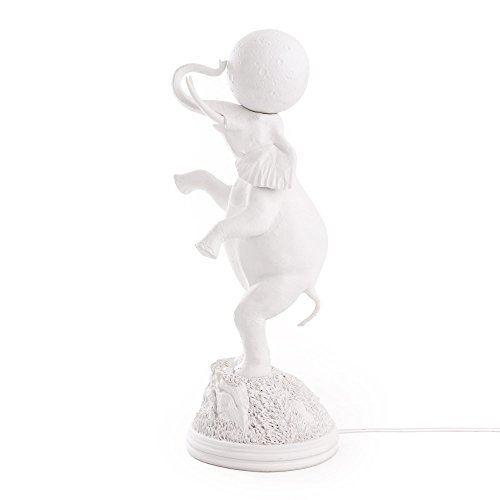 Seletti Elephant lampe en forme de éléphant blanche