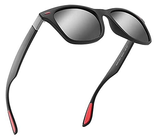 Las Gafas de Sol polarizadas de los Hombres Son 100%. UV Resistente, Adecuado para Conducir, Pescar y Deportes. (Color : Red)