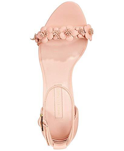 Avec Les Filles Womens Michele Leather Open Toe Special Pale Peach
