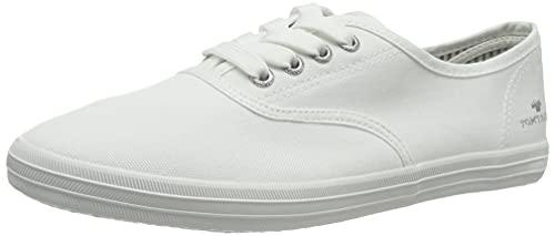 TOM TAILOR Damen 1192401 Sneaker, White, 41 EU