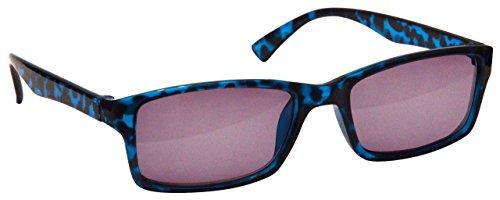 The Reading Glasses Die Lesebrille Unternehmen Blau Schildpatt Sonnen-Leser UV400 Designer Stil Herren Damen S92-3 +3,00