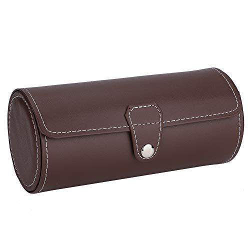 OIHODFHB Reloj de pulsera para reloj de pulsera con soporte para rodillos, pendientes, caja de regalo de joyería (café)