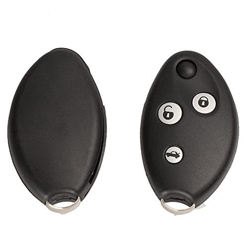 Carcasa de Mando a Distancia con 3 Botones y Llave para Citroen Xsara C4 C5, Funda para Llave automática