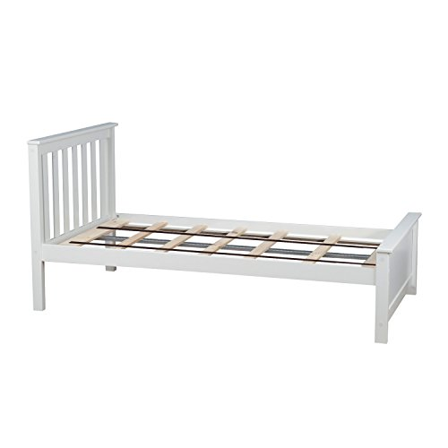 Max & Lily Solid Wood Twin-Size Bed, White