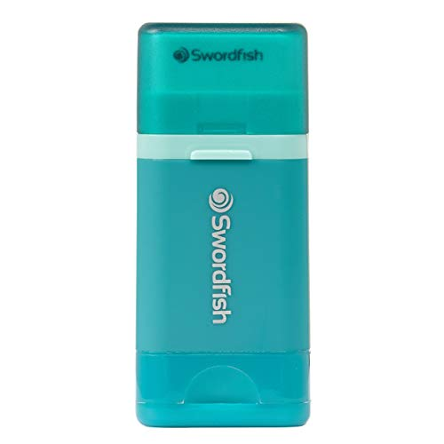"Swordfish ""Combo"" Pencil Sharpener and Eraser – Turquoise"
