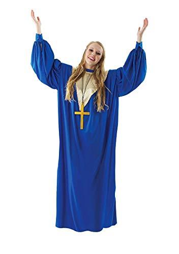 ORION COSTUMES Disfraz Bata de Cantante de Coro Góspel Azul para Mujeres
