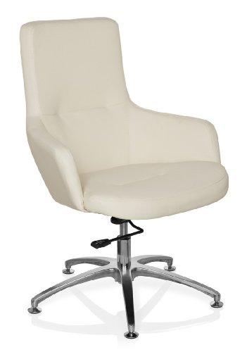hjh OFFICE 670580 Lounge-Sessel SHAKE 300 Kunstleder Weiß moderner Sessel, Clubsessel, Cocktailsessel, höhenverstellbar