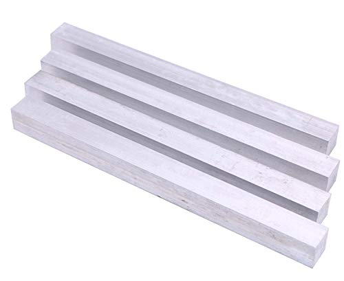 4 Pieces of 1'(25mm) X1'(25mm) Square Aluminum BAR 12' Long +.05'/0 6061 General Purpose Plate,T6511 Solid New Mill Stock