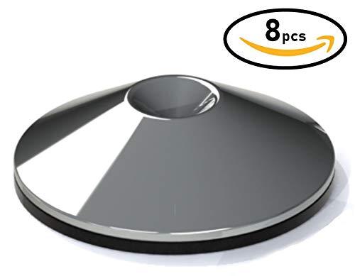 AudioSerenity chrome métalliques pointes chaussures pour haut-parleurs, caissons de grave, pieds d'enceinte ou supports Hi-Fi. (8)