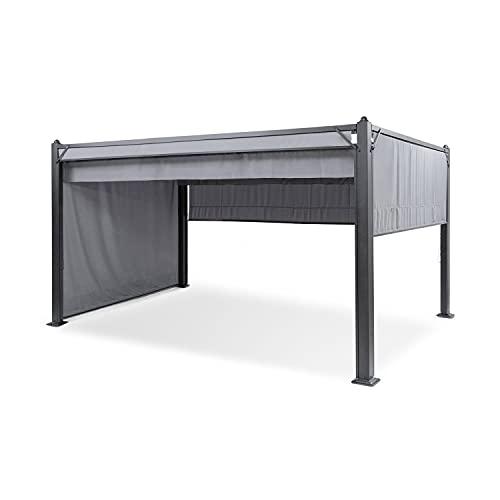 blumfeldt Pantheon Cortina Pergola - Partyzelt, Aluminiumkantrohr, 10x10 cm Eckpfosten, Dach mit wasserabweisender Beschichtung, rostfrei, überdachte Fläche: 3x4 m, Taupe