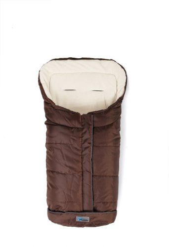 Altabebe Active Line - Saco de invierno para silla de coche, 0-12 meses, color marrón/blanco