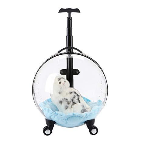 Maleta portátil Transparente para Mascotas, Bolsa de Transporte para excursiones, cápsula Espacial Transpirable para Perros, Mochila Multifuncional para Mascotas,Clear