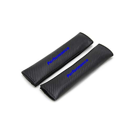 jooe 2 Piezas de Almohadillas para cinturón de Seguridad, hombreras para Asiento de automóvil, Cubierta Protectora de Fibra de Carbono para cinturón de Seguridad, para BMW Performance