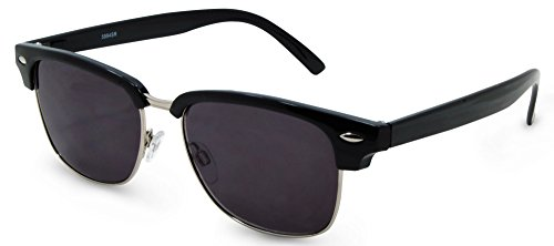 San Francisco Bifocal Sunglasses or Full Lens Sun Reader Glasses Set (Black, 1.50)
