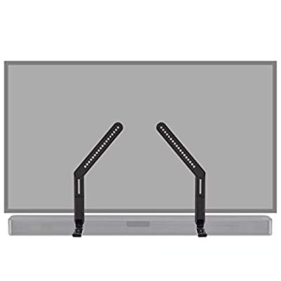 ECHOGEAR Sound Bar Mounting Brackets For TVs - Adjust Height & Depth for Maximum Compatibility Between Your TV & Soundbar - Works With With LG, Vizio, Bose, Dolby Atmos Speakers & More by ECHOGEAR