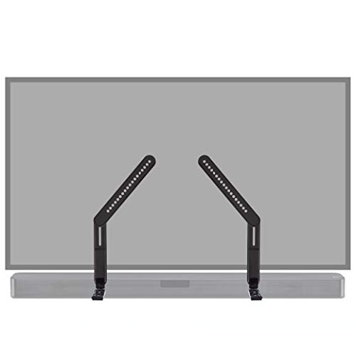 ECHOGEAR Sound Bar Mounting Brackets for TVs - Adjust Height & Depth for Maximum Compatibility Between Your TV & Soundbar - Works with with LG, Vizio, Bose, Dolby Atmos Speakers & More