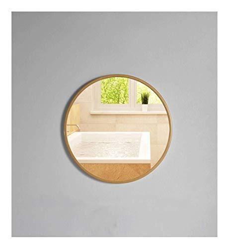 40cm / 50cm / 60cm / 70cm diámetro Circular Wall Mirror Ninguna perforación, Moderno Metal Redondo con Marco de Plata Colgantes de Cristal de la vanidad de Afeitar Espejo Decorativo for la habitación