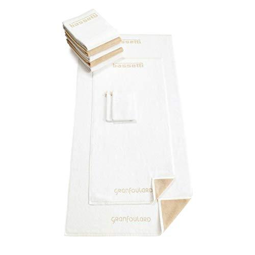 Bassetti Toallas Shades de color blanco 13, toalla de ducha 70 x 140 cm