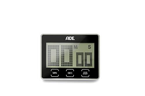 ADE digitale keukentimer TD 1203 met extra groot XL LCD-display. Elektronische kookwekker met countdown en stopwatch, sensortoetsen, standaard en magneetophanging. Akoestisch signaal. eierwekker