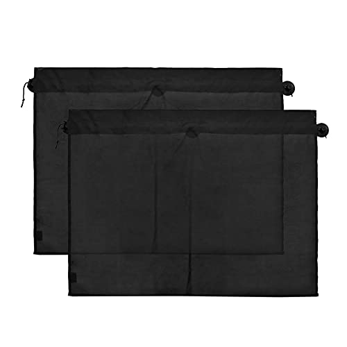 uxcell a17050200ux0608 2 Pcs 70 x 53cm Car Side Window Sunshade Polyester Cloth Curtain UV...