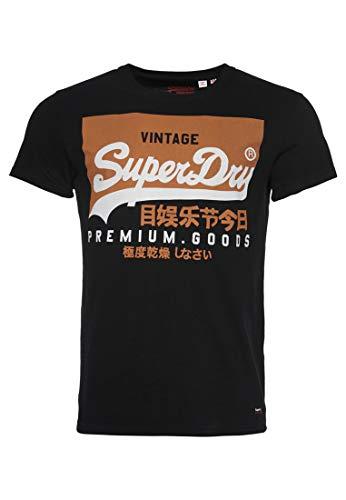 Superdry Men\'s Vintage Logo T-Shirt - Black - L