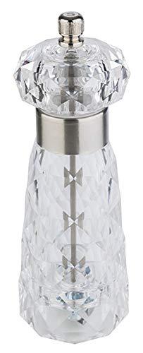 APS 40554 Diamond - Molinillo de sal (acero inoxidable y acrílico, 6 x 18 cm)