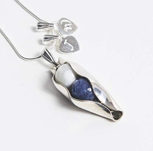 20. Hochzeitstag Geschenk - zwei Erbsen in einer Pod Halskette - zwei Birthsones Ihrer Wahl - Ehefrau Hochzeitstag Geschenk