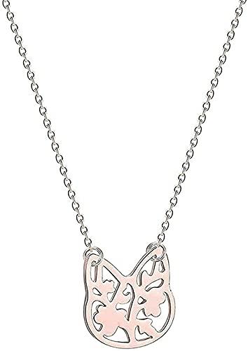 WYDSFWL Collar Halskette mit schönem Katzenanhänger für Frauen süßes Liebestier Löwe Vogel gebrochen Fenix Baby Mädchen Geburtstagsgeschenk Halskettenhenke