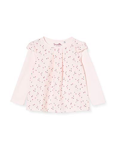 Sanetta Baby-Mädchen FIFTYSEVEN Bluse Mädchenhaftes Hellrosa trifft bei diesem Langarm-Shirt bunten Herzchen-Alloverprint, rosa, 074