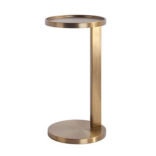 Jcnfa-Tische Stick Side Table, C-Typen-Metall-Snack-Beistelltisch, Couchtisch, Sofa-Beistelltisch, 3 Farben (Color : Brass, Size : 11.81 * 11.81 * 21.65in)