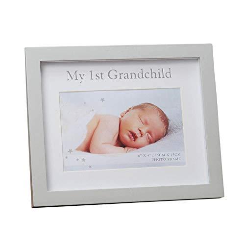 Happy Homewares My First Grandchild Grey MDF 6