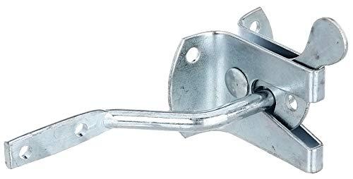 GAH-Alberts 210182 Gartentorverschluss | galvanisch blau verzinkt | Plattenlänge 55mm | Plattenbreite 45mm