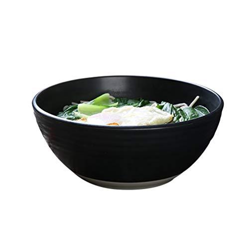 Keramische kom zwart mat creatieve Ramen kom keramische thuis soep kom grote kom instant noedels Hotel kom Japanse servies