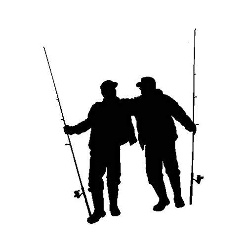 clothingZHY Calcomanías/calcomanías para Autos,calcomanías para Tatuajes de Parachoques,calcomanías de Vinilo Negro,Good Friend Go Fish,calcomanía para decoración de Vinilo para Auto,13.5x15.5cm