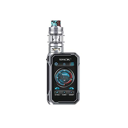 S-MOK G-Priv 3 Kit (Prism Chrome) 230W con TFV16 Lite Tank 5ml E-Cigarette Box Mod Kit alimentado por batería dual 18650 (externa), vaporizador E-Cig vape kit, sin nicotina