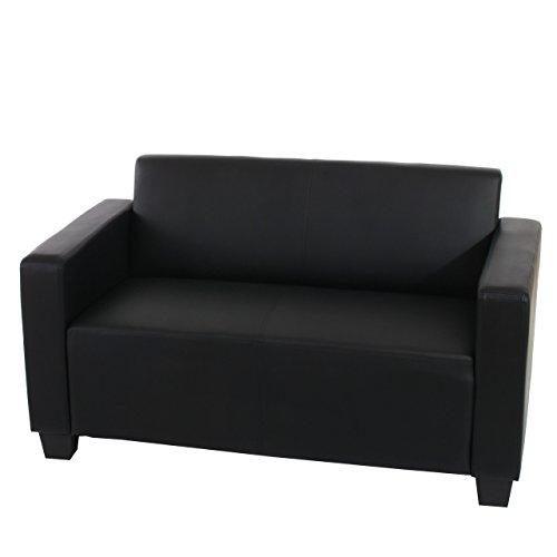 Mendler Sistema modulare Lione N71 salotto ecopelle divano 2 posti ~ nero