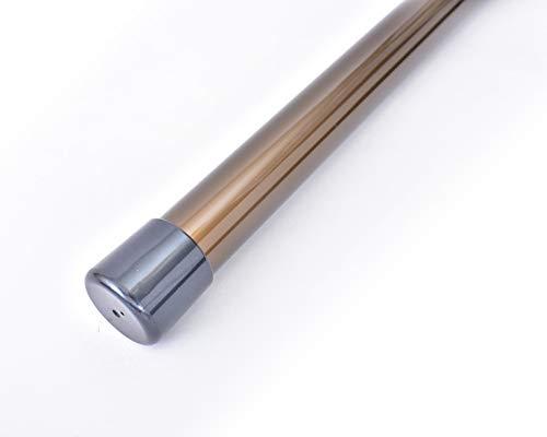 ものほし竿 3.5m 高剛性 組立て式 1本竿 洗濯竿 物干しざお 直径3.2センチ 本体カラー:ブロンズ (キャップカラー:パールブラック)