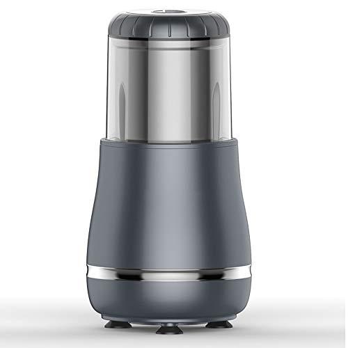 IQQI Elektrische Kaffeemühle 300W, 200G Kapazität, Edelstahlklinge, elektrische Haushalts Grinder für Kaffeebohnen Gewürze Samen Nüsse Vanille Pfeffer