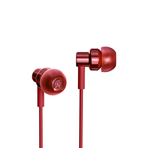 Redmi Hi-Resolution Audio Wired Earphones with Mic (Red, in The Ear)