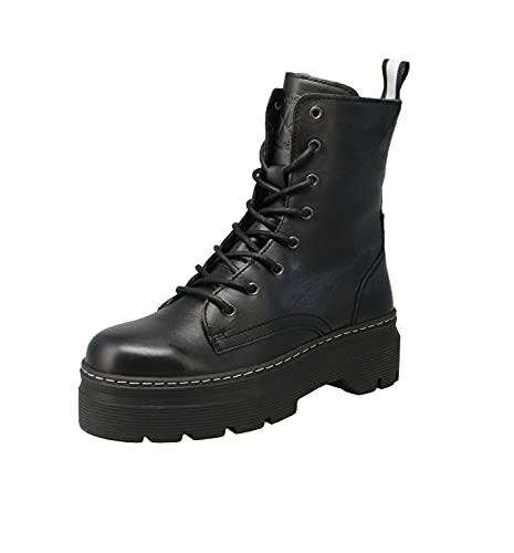Maca Kitzbühel 2924 - Damen Schuhe Stiefel - Nero-White, Größe:38 EU