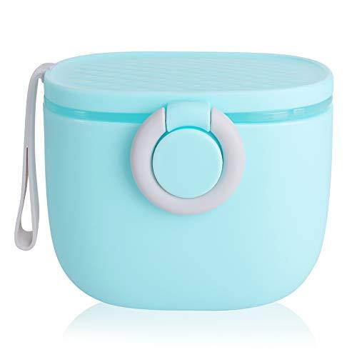 Caja de Leche en Polvo, Sindwind Dosificador Leche en Polvo Bebe, Dispensador de Fórmula, Recipiente Portátil de Leche en Polvo para Bebés 500 ml (Azul)